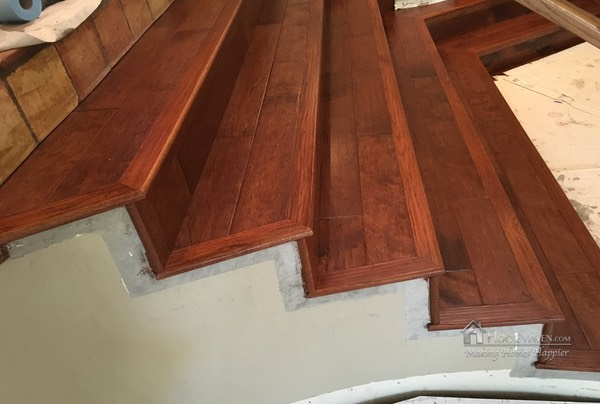 06 Wood installed on Staircase