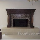 Marble-glass-fireplace-hearth